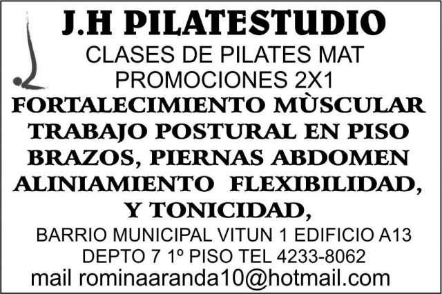 J.h pilatestudio clases de pilates mat promociones