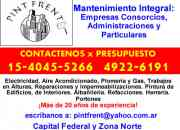 Mantenimiento integral para empresas y consorcios zona boedo llame (15 4045 5266) sr angel rubio