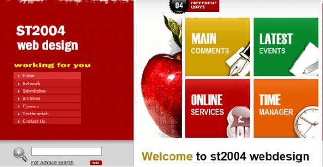 Alojamiento y diseno de pagina web, web design st2004 15 2252 8710