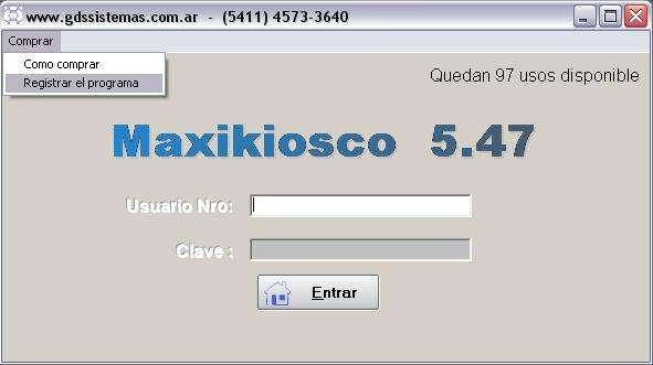 Software de gestión comercial para kiosco > maxikiosco 5.47