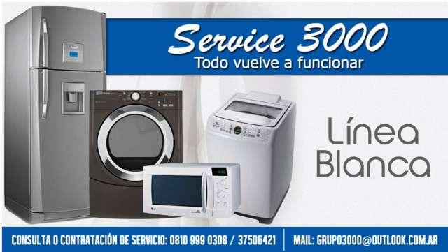 Service 3000 - lavarropas, heladeras, lavavajillas microondas