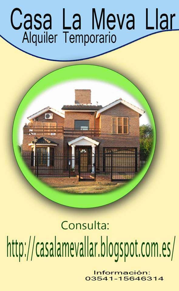 Casa con pileta en alquiler temporario villa carlos paz