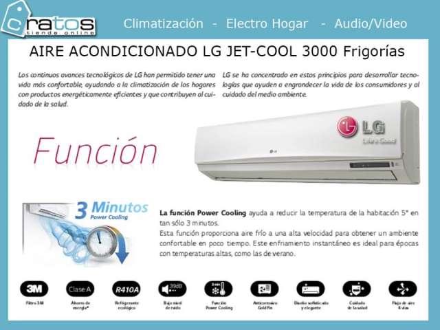 Lg jet cool 3000 frigorias - tienda cratos