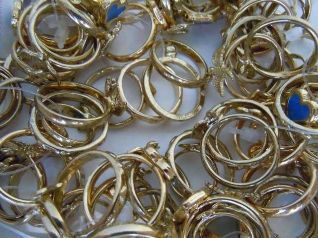 Lote de 165 anillos bijouterie fantasia joyeria mayorista