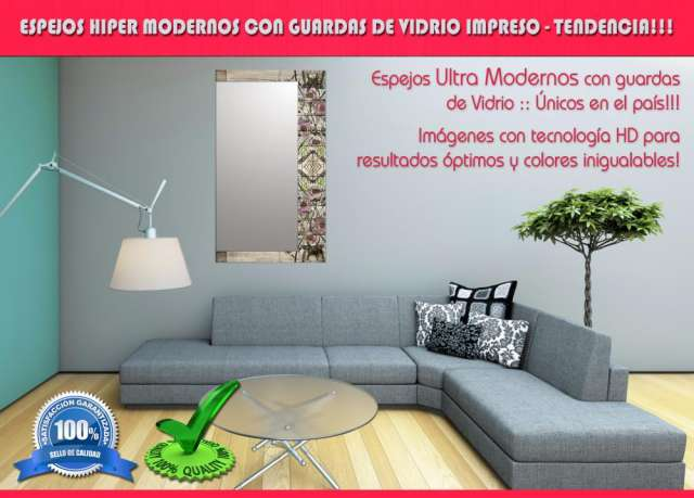 Espejos hiper modernos guardas de vidrio full color - el globo! 3548-437665