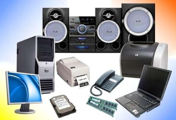 Compramos equipos de informática, tv, audio, etc. aptos para reuso