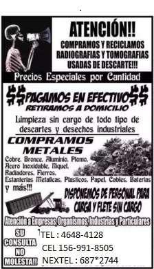 Compra de cobre compra aluminio compra plomo metales chatarra pago mas $$ llama al 1569918505