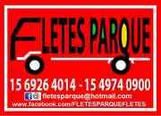 Fletes parque   mudanzas - fletes  24 hs
