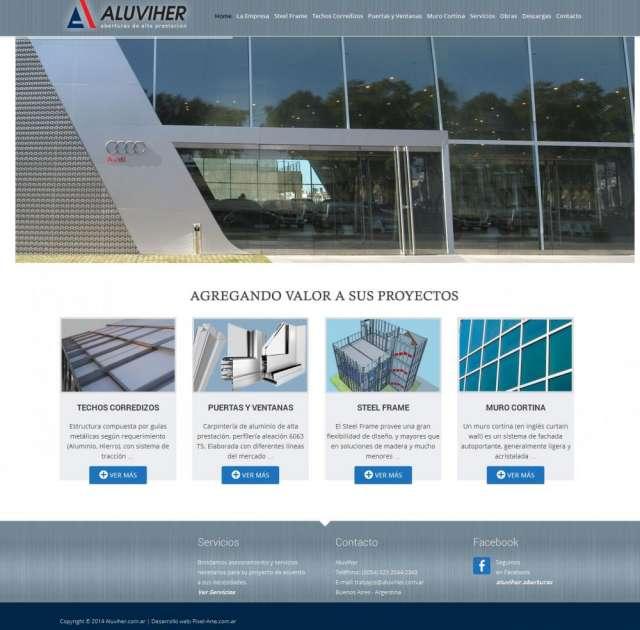 Aberturas de aluminio de alta prestación entregas en benavidez aluviher