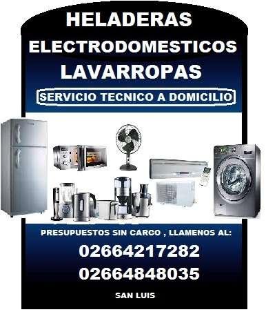 Servicio tecnico a domicilio de aires acondicionados heladeras lavarropas secarropas electrodomesticos en gral