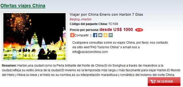 Viajar por china enero con harbin 7 dias