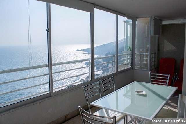 Reñaca departamento 6 personas, con hermosa vista al mar, piscina temperada
