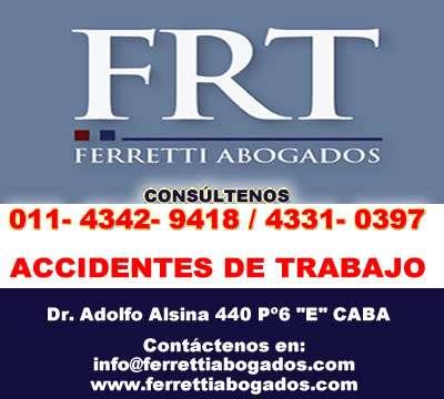 Accidentes de trabajo zona lanus este | ferretti abogados | telef 43429418 a.r.t