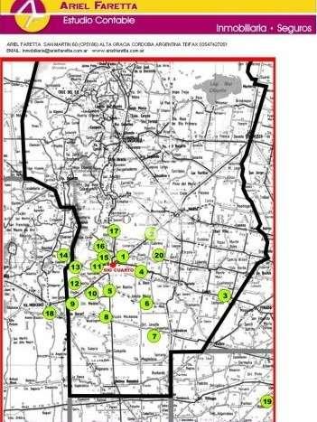 Campos en alquiler / zona sur de la provincia ? rio cuarto y alrededores