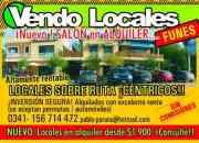 DUEÑO VENDE LOCAL FUNES,CENTRICO,SOBRE RUTA..UBICADO..