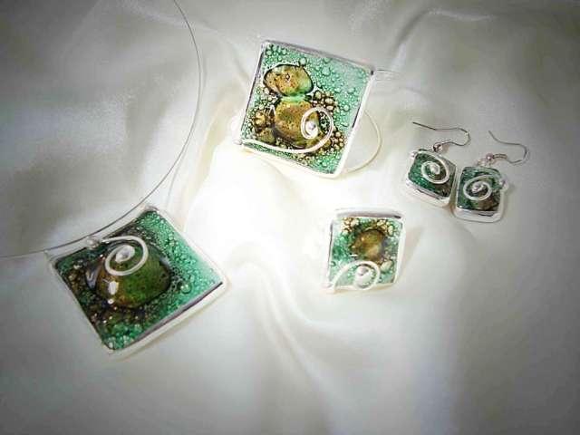 Bijouterie artesanal en vitraux y vitrofusión