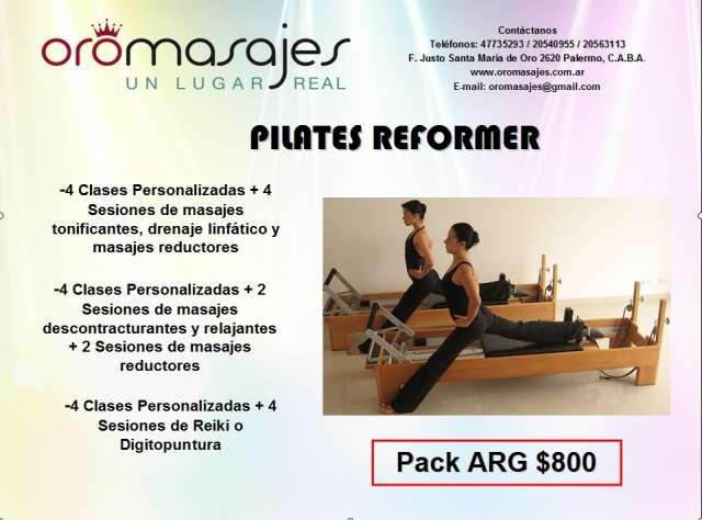 Promo clases personalizadas de pilates reformer