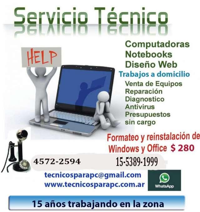 Servicio y soporte técnico de pc