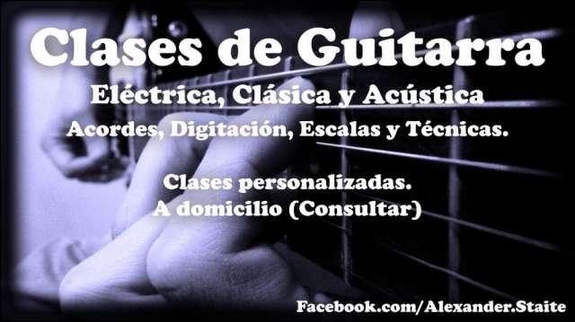 Clases de guitarra; clásica; eléctrica y acústica
