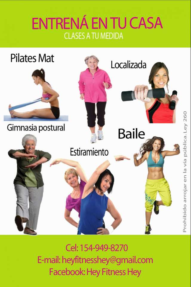 Hey fitness /clases a domicilio