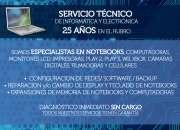 Reparación de pc, notebooks, monitores lcd e impresoras todas las marcas y modelos