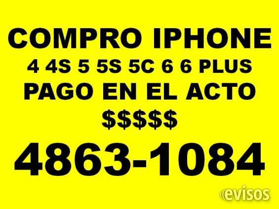 Compro iphone pago en el acto comunicarse al 48631084 no respondo mens