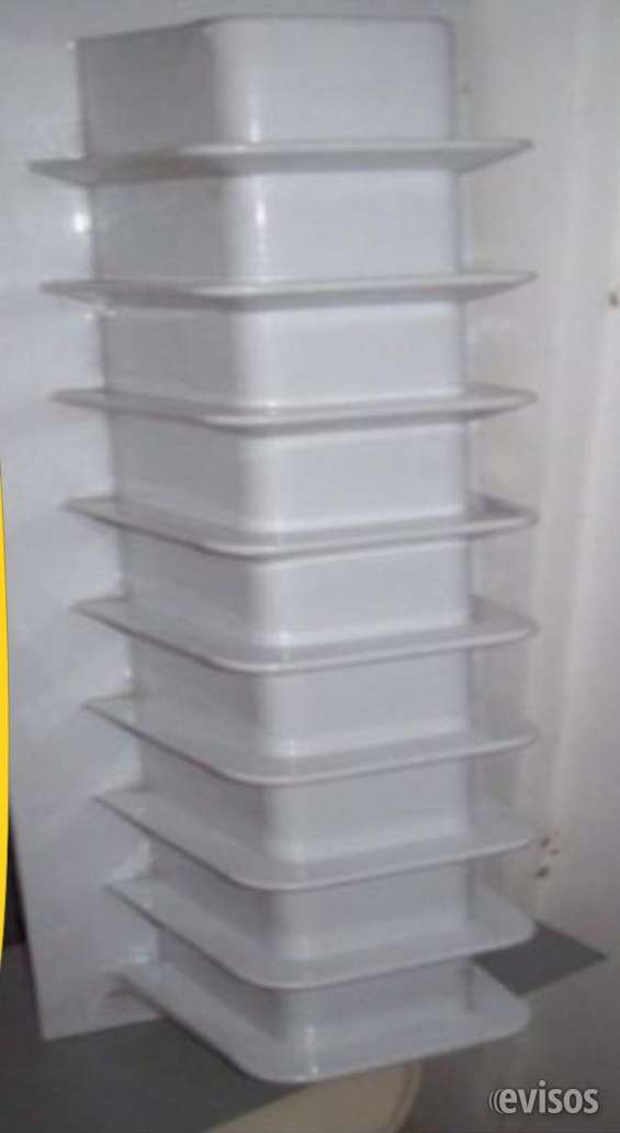 Exhibidores para lentes de plásticos para 9 lentes forma repisas color blanco