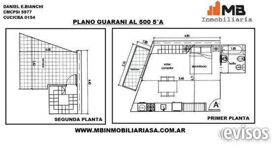 Parque patricios venta monoamb.c/balcon en guarani al 500 5°a