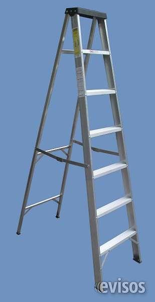 Escalera aluminio tijera de 7 peldaños , altura 1.75 mts