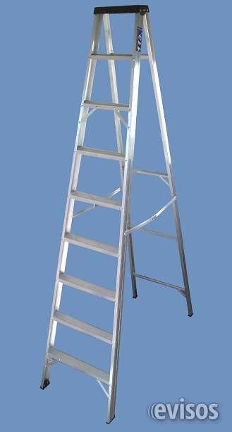 Escalera aluminio tijera de 9 peldaños, altura 2.70 mts