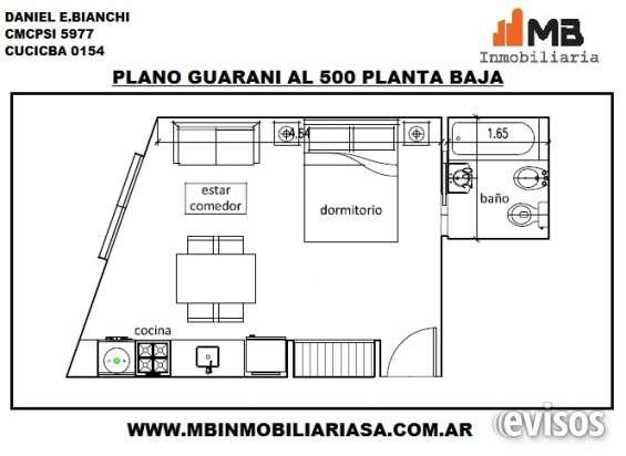 Parque patricios venta monoamb.al frente en guarani al 500 pb