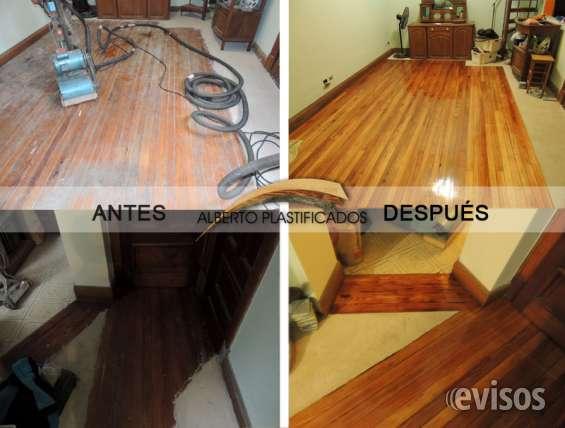 Pulido y plastificado, hidrolaqueado y colocaciones de pisos de madera