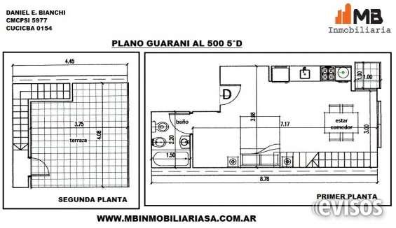 Parque patricios venta en pozo monoamb.al contrafrente c/patio en guarani al 500 5°d