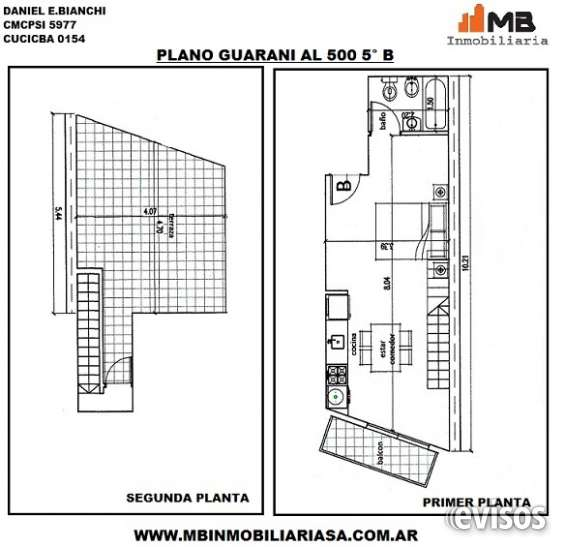 Parque patricios venta en pozo monoamb.c/terraza guarani al 500 5°b
