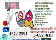 SERVICIO TÉCNICO, SOPORTE Y DISEÑOS WEB