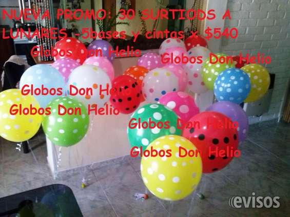 Globos inflados con gas helio. envíos a domicilio