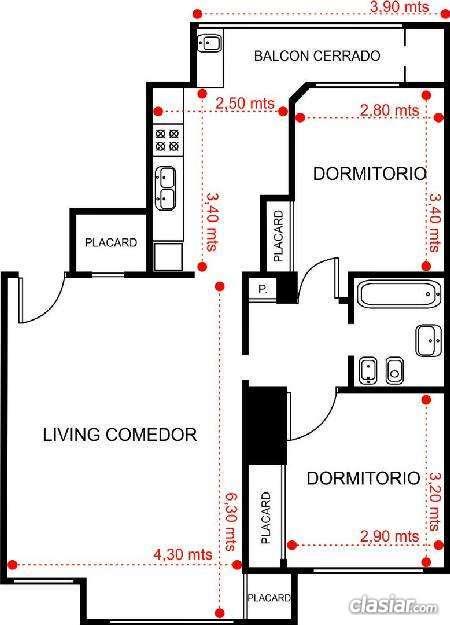 Vendo departamento 3 ambientes a estrenar. 3 ambientes. 2 dormitorios. . #129559. buen lugar
