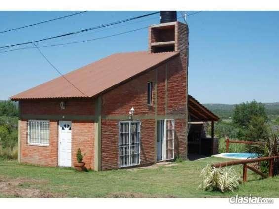 Estoy por alquilar cabaña en alquiler cerca de mina clavero5 personas en muy buenas condiciones.