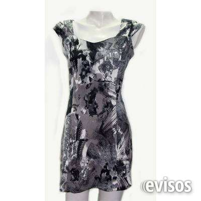 Vestido corto estampado gris arreglo a medida ===escucho oferta===