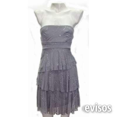 Vestido corto gris brillos arreglo a medida ===escucho oferta===