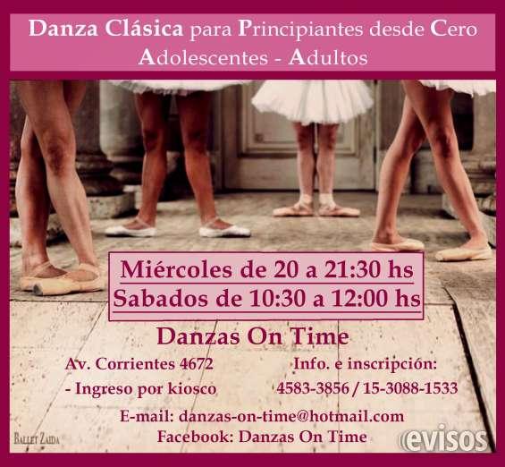 Clases de danza clasica para adultos principiantes desde cero en almagro