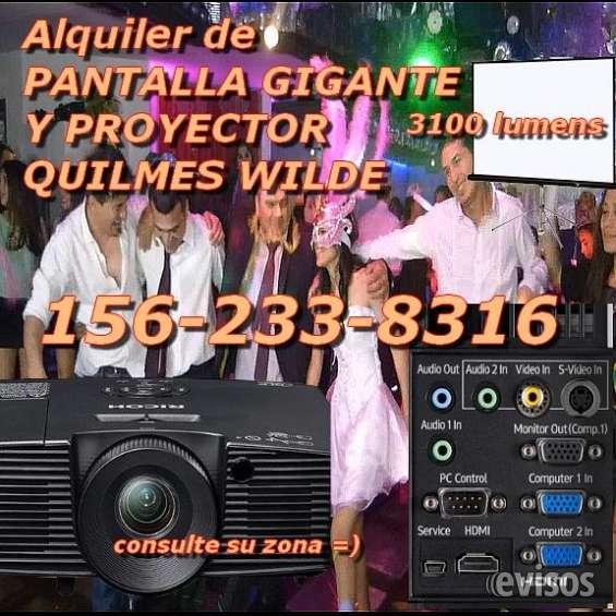 Alquiler de pantalla gigante y proyector quilmes 1562338316