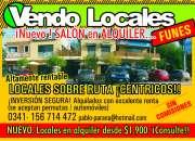 LOCALES FUNES CENTRO EN RUTA DUEÑO VENDE YA !! CON RENTA INMEDIATA IDEAL INVERSOR !!