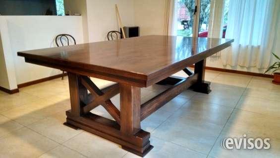Mesa de pool rustica para living comedor