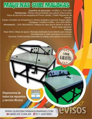 Maquina de estampado textil somos fabricantes 100% argentina