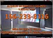 Alquiler de pantalla gigante y proyector quilmes …