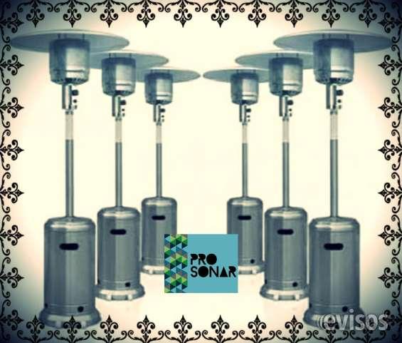 Alquiler de calefactores, calefaccion, hongos calefactores, calefactor para exterior