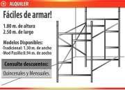 Alquiler de andamios, trompos y escaleras Cel.: 15 6369 1782
