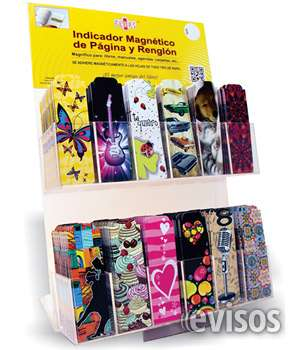 Señaladores magneticos flaps para librerias