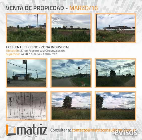 Terreno en zona industrial